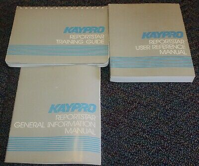 KAYPRO Computer ReportStar V. 1.0 General Reference, and Training Manuals 1982 , used for sale  Shipping to South Africa
