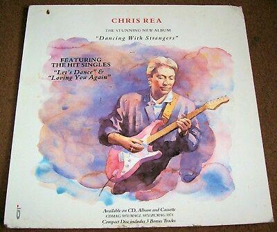CHRIS REA UK REC COM PROMO SHOP DISPLAY FLAT
