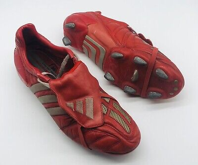 2002 ADIDAS PREDATOR MANIA SG RED EDITION UK SIZE 10 US 10.5 FOOTBALL BOOTS