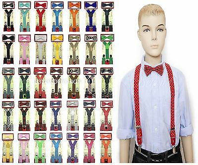 Suspender and Bow Tie Set for Baby Toddler Kids Boys Girls Child (USA Seller)
