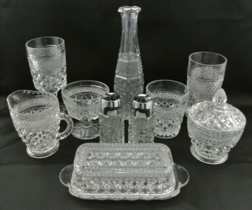 Vintage Anchor Hocking Wexford Crystal Pattern Glassware Replacements Unused