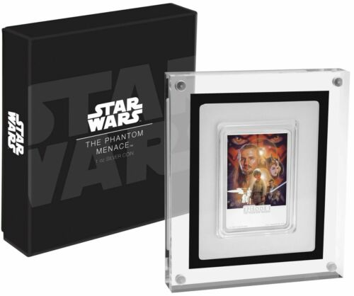 2018 STAR WARS The Phantom Menace POSTER COIN - 1 OZ. SILVER - 4th coin IN STOCK