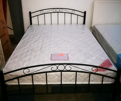 Brand new metal bed Bed frame: Single:$99 Double:$180  Bed frame+