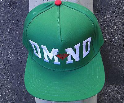 bcd7eecc915 Skateboard DMND logo Green Mens hat Snapback