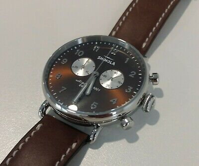 Shinola Canfield Chrono 43mm men's watch.