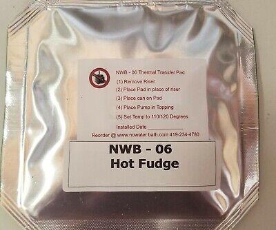 Hot Fudge Warmer Pad Fits Server Gold Medal Nemco Bottle Warmer