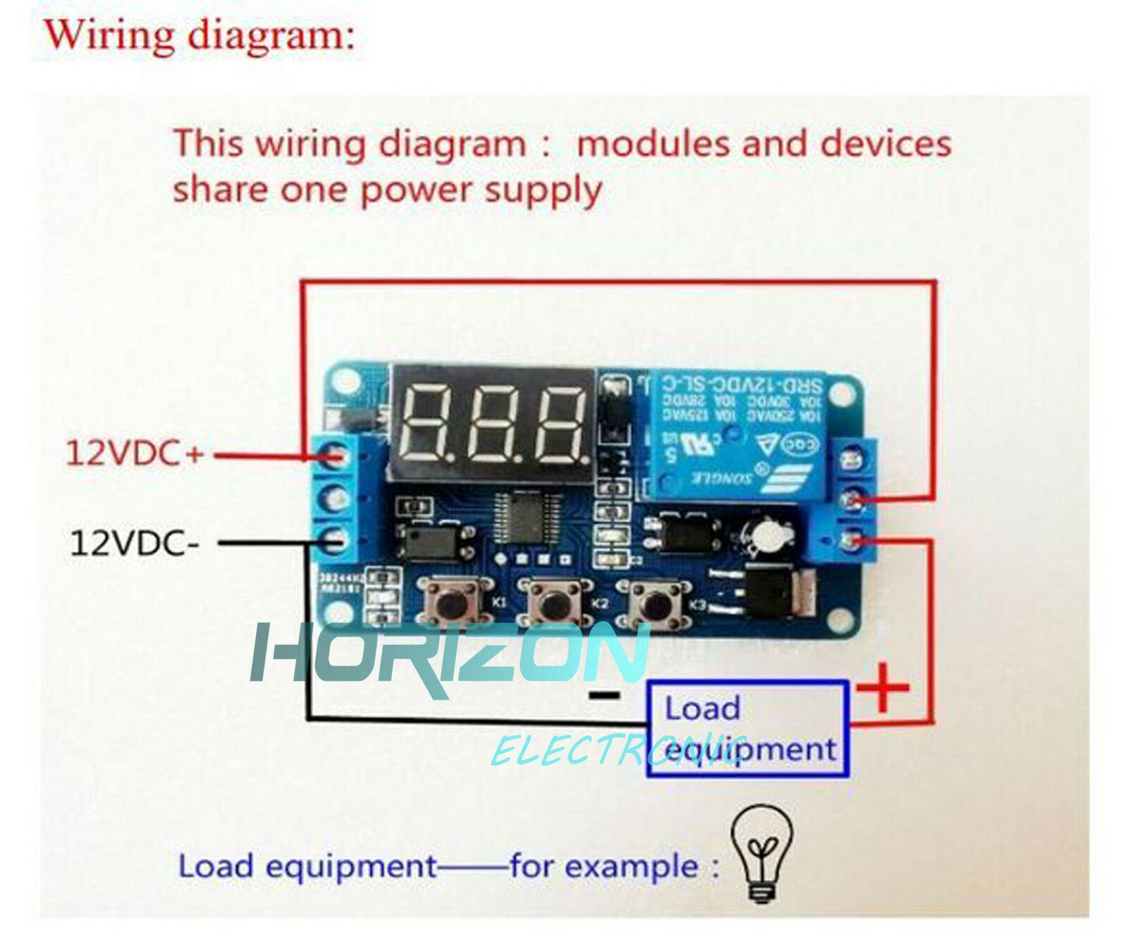 LED DELAY TIMER Control Switch Relay Module Automation 12V + case ...
