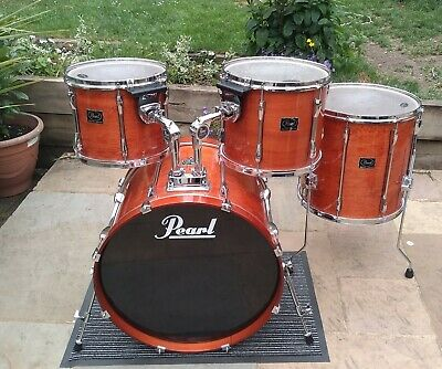 Pearl Export ELX Series Shell Pack + Free Cases Vintage 1990s Amber Mist Finish