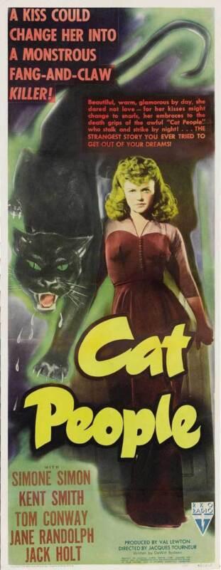 CAT PEOPLE Movie POSTER 14x36 Insert Simone Simon Kent Smith Jane Randolph Jack
