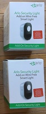 ARLO SMART HOME SECURITY LIGHT AL1101-100NAS WIRELESS 2 LIGHT SET NEW BEST