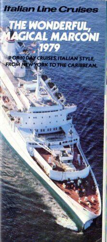 1979 Italian Line Cruises MARCONI Brochure - Short-Lived New York Service