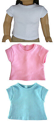 3 Pack Cap Sleeve T-Shirts Tee Top made for 18