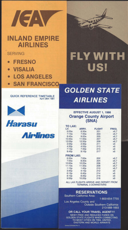 Commuter airlines timetable lot (4) [t035]