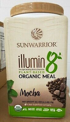 Base 2.2 Lb Powder - SUN WARRIOR - iLLumin8 - Plant Based Organic Meal - Mocha - 2.2 lbs - Exp 2/2020