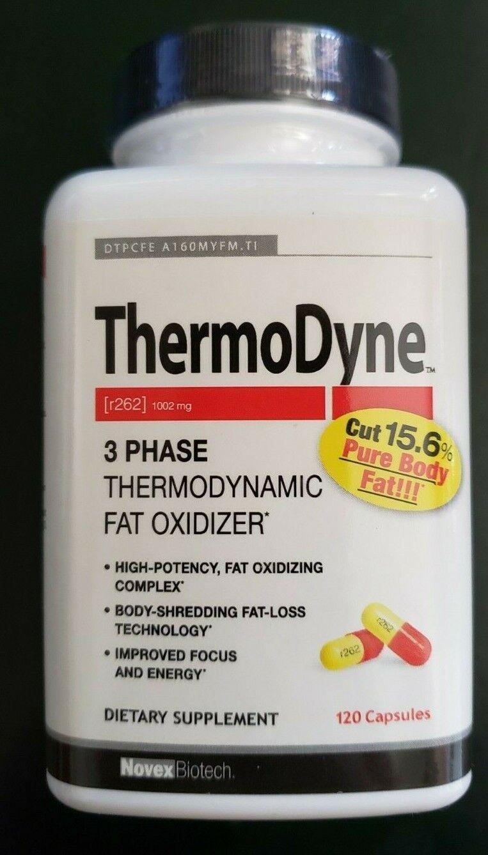Novex Biotech - Thermodyne - 120 Capsules - 3 Phrase Fat Oxidizer - Exp 8/2021