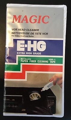 Magic VCR Video Head Wet/Dry Cleaner Kit E-GH Extra High Grade New  old stock (Magic E)