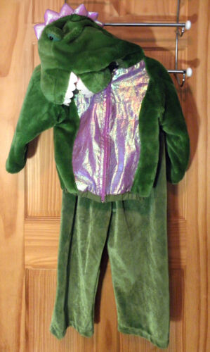 DINOSAUR Halloween Costume Child 6T PLUSH T Rex Heavy Jacket Dino Hood Unisex