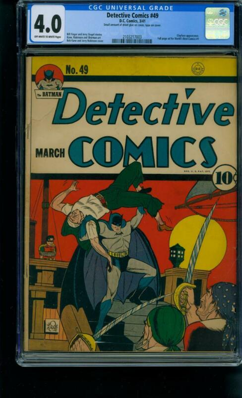 Detective Comics #49 [1941] Certified 4.0 CLAYFACE