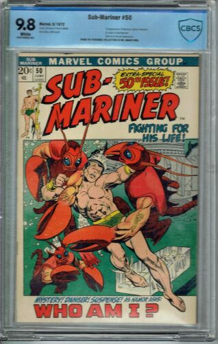 CBCS 9.8 SUB-MARINER #50 WHITE PAGES 1ST APPEARANCE OF NAMORITA NEW WARRIORS CGC