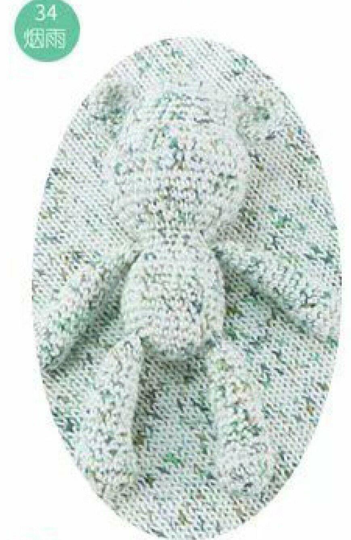 Cotton Crochet Yarn Soft Lace 158 Yds. 3 Balls Camouflage Dots 34/772  - $17.75