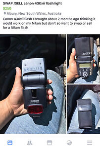 Swap/sell canon 430xii flash North Albury Albury Area Preview