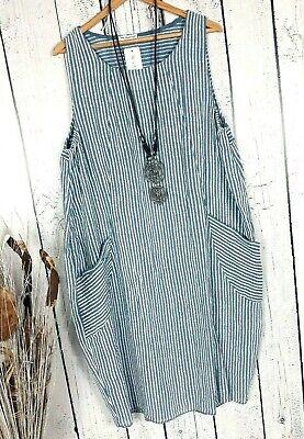 llon Kleid Streifen Tunika gestreift jeans blau Gr. 42 44 (Gestreifte Ballons)