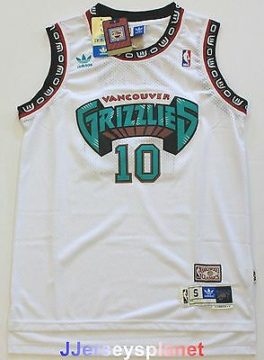 Hardwood Swingman Basketball Jersey Mike Bibby 10 Vancouver Grizzlies White Men