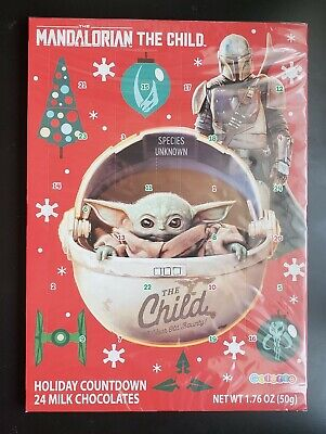 Star Wars Advent Christmas Calendar Mandalorian The Child Milk Chocolates 2020
