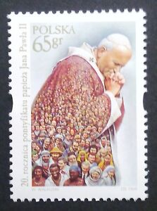 POLAND-STAMPS MNH Fi3584 Sc3423 Mi3732 - Pontificate of Pope John Paul II, 1998 - <span itemprop=availableAtOrFrom>Reda, Polska</span> - POLAND-STAMPS MNH Fi3584 Sc3423 Mi3732 - Pontificate of Pope John Paul II, 1998 - Reda, Polska