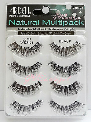 (4 Pairs) Ardell DEMI WISPIES NATURAL MULTIPACK False Eyelashes AUTHENTIC Lot