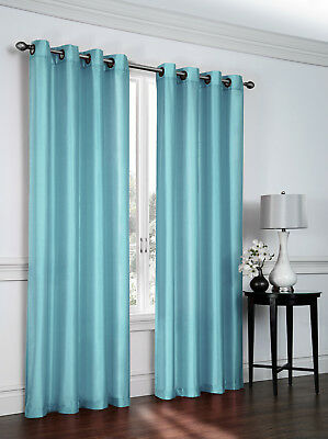 Contemporary Curtains Drapes (Artisan Faux Silk Grommet Curtain Panel (54 in. x 84 in.) - Assorted Colors )