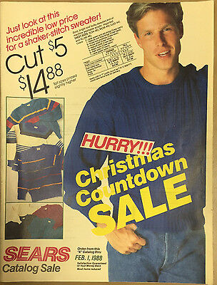 Sears Sale Catalog 1988 Clothing Electronics Appliances Tools Cheryl Tiegs