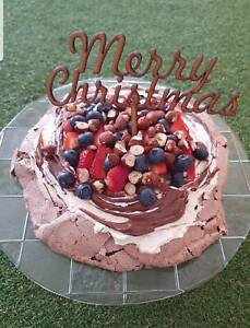 Merry Christmas Cake Topper - NEW wood or acrylic