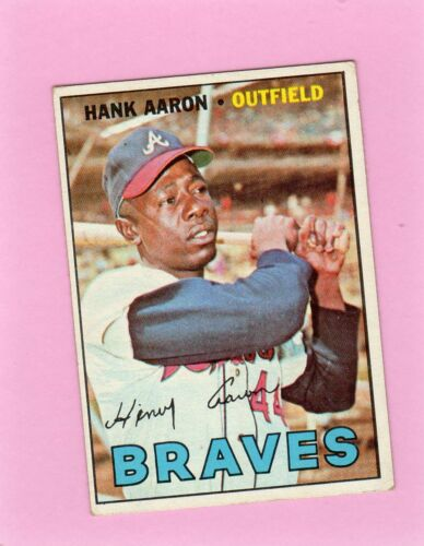 3a3d2c77 Hank Aaron 1967 Topps #250 Card Ex Game Atlanta Milwaukee Braves Ex $44.99.  Seller: bostonsportscollect-jim