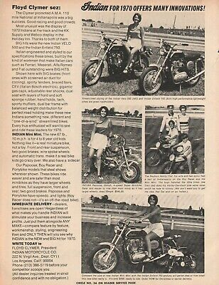 1970 Indian Motorcycles - Vintage Motorcycle Ad
