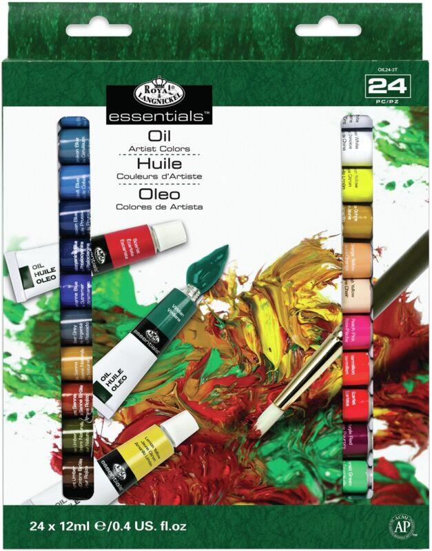 Royal & Langnickel(R) Essentials(TM) Oil Paint 12ml-24/Pkg