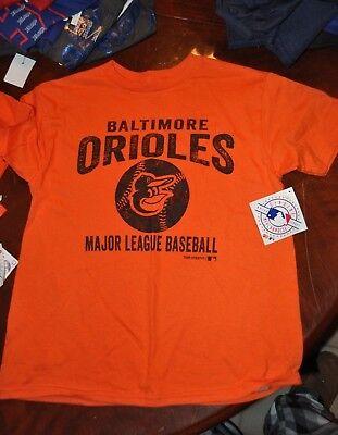 Baltimore Orioles Mlb Orange Kids Youth Size Athletic T Shirt Multi Sz New W Tag
