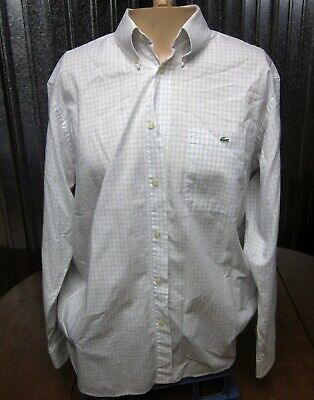 LACOSTE longsleeves Crocodile size 42 plaid XL button-down shirt French