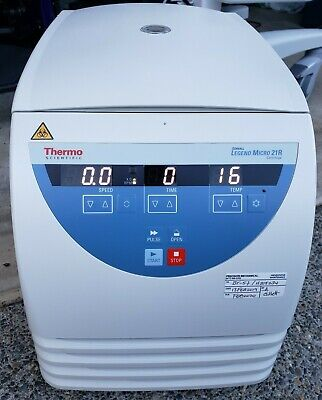 Thermo Fisher Scientific Sorvall Legend Micro 21r Centrifuge Mfg In 2018- Clean