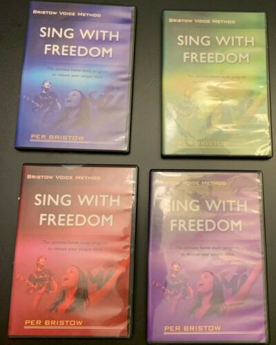 Per Bristow Voice Method Sing with Freedom Set 4 DVD Home Study Singing Course