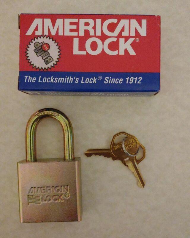 AMERICAN LOCK SERIES 5200. Hardened steel alloy one-piece. 2 Keys *Bump Stop*
