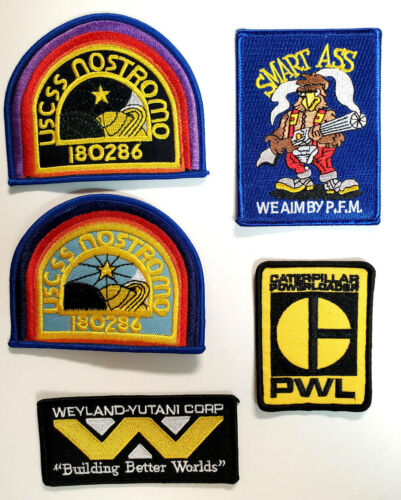 Alien/Aliens Movies USCSS Nostromo Officer/Crew Patch Set of 5 (ND)