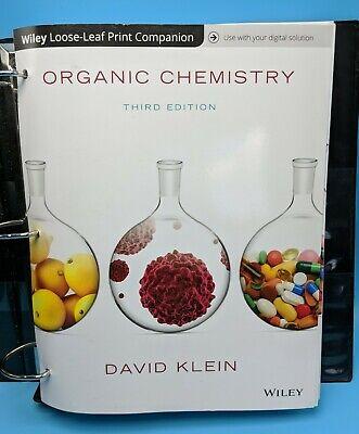 Organic Chemistry by David R. Klein 3rd Edition, Loose-Leaf