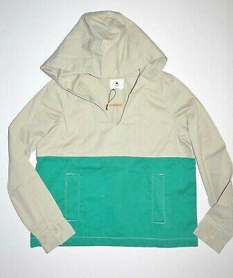 Burton Womens Cleo Woven Pullover Hoodie Jacket Medium