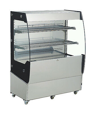 Omcan Rts-200l 39.37x22x49.21-inch Open Refrigerated Display Case 7 Cu. Ft Ce