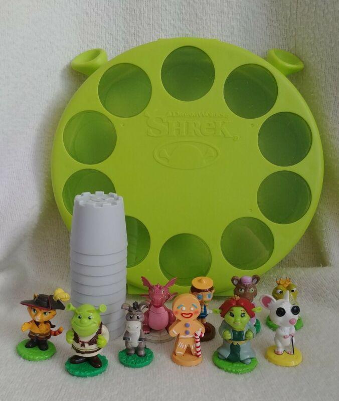 2006 Dreamworks Shrek Fairytale Friends Mini Figures Set & Case (10 characters)
