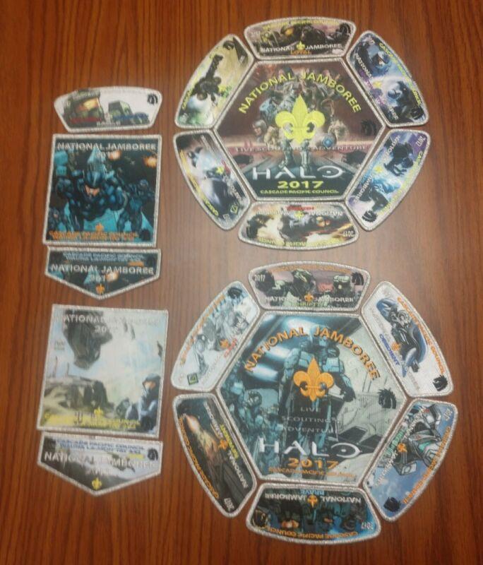 2017 BSA National Jamboree Cascade Pacific Halo Complete Mylar 19 Patch Set