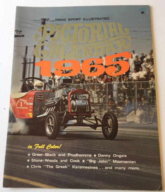 1965 Drag Sport Illustrated Pictorial Calendar