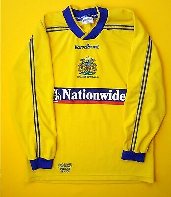 Halifax Town jersey SMALL 2002 2003 long sleeve shirt soccer Vandanel 4.9/5 image