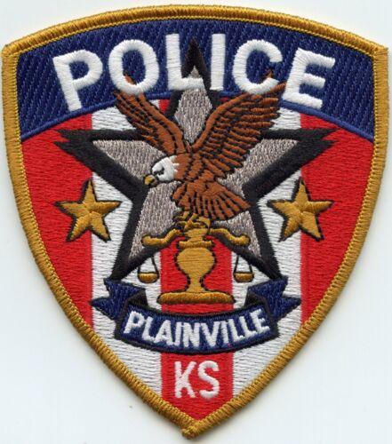 PLAINVILLE KANSAS KS colorful POLICE PATCH